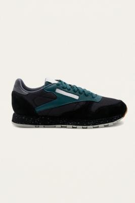Reebok Classic Leather SM Black Trainers – Mens UK 9