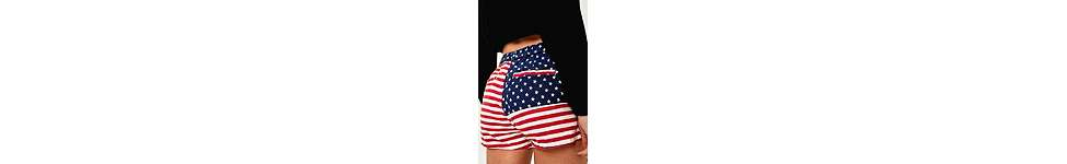 Thumbnail View 3: Urban Renewal Vintage Surplus – Chubbies-Shorts mit US-Flaggenprint