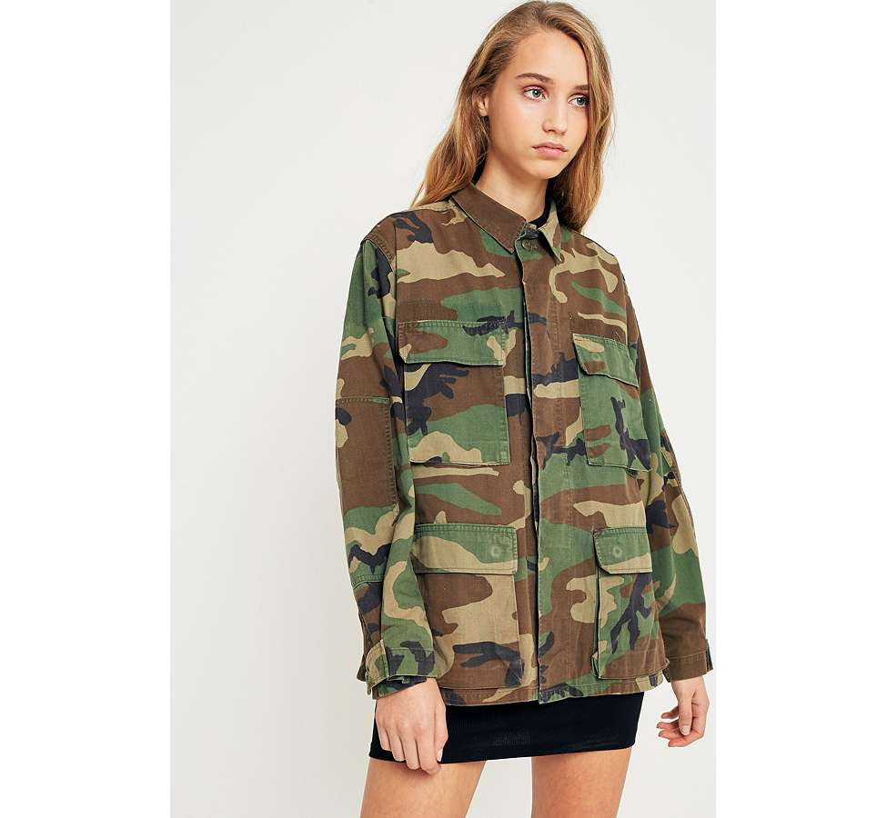 Slide View: 1: Urban Renewal Vintage Originals Camo Jacket