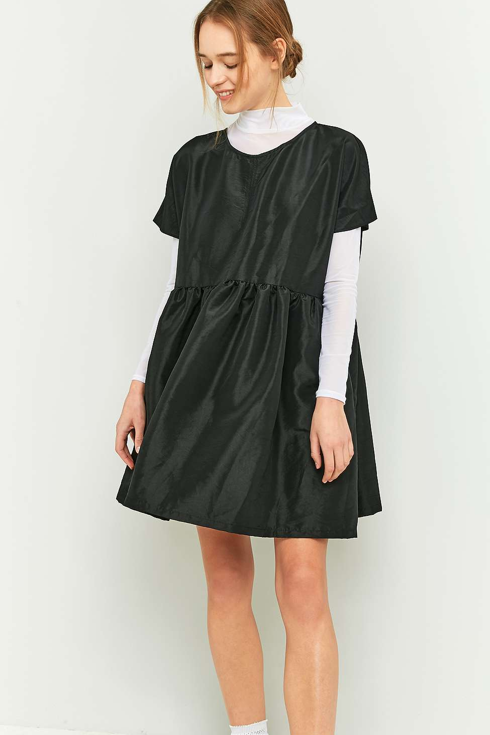 rework by Urban Outfitters Black Babydoll Dress | Urban Outfitters