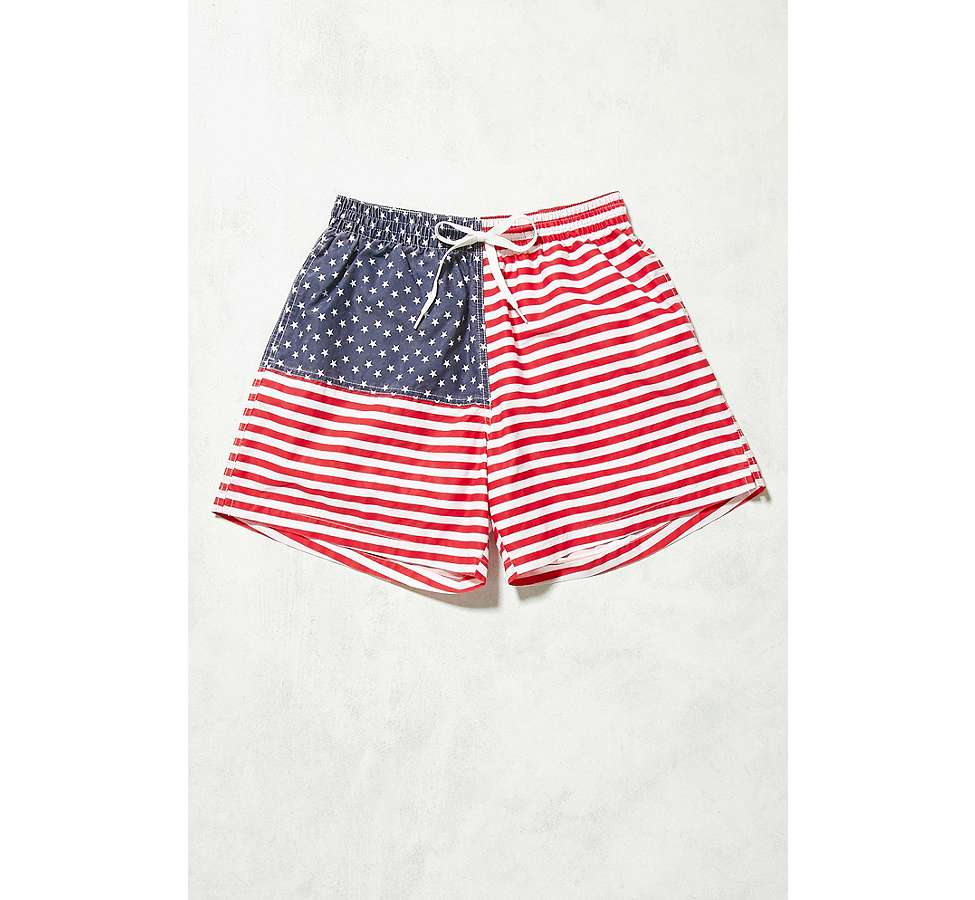 Slide View: 1: Urban Renewal - Short de bain Chubbies à motif drapeau américain