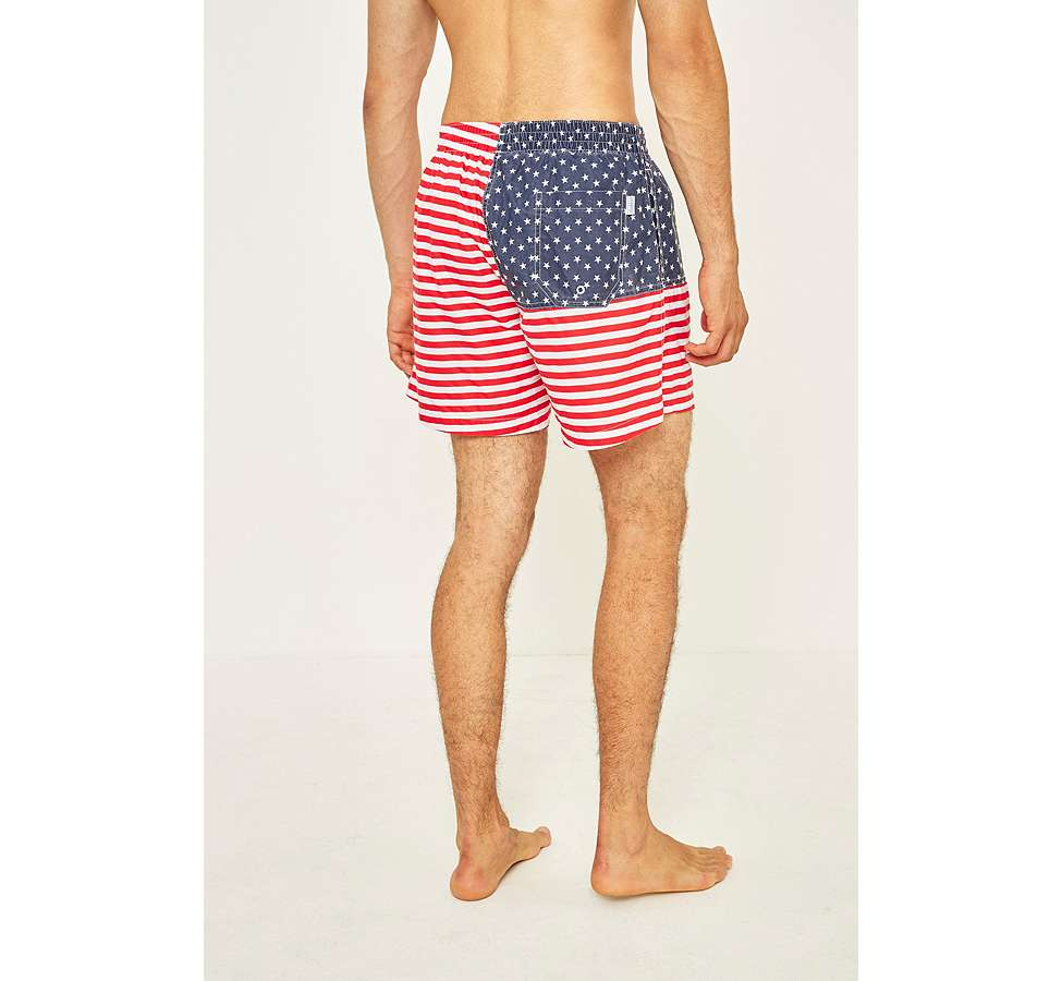 Slide View: 4: Urban Renewal - Short de bain Chubbies à motif drapeau américain
