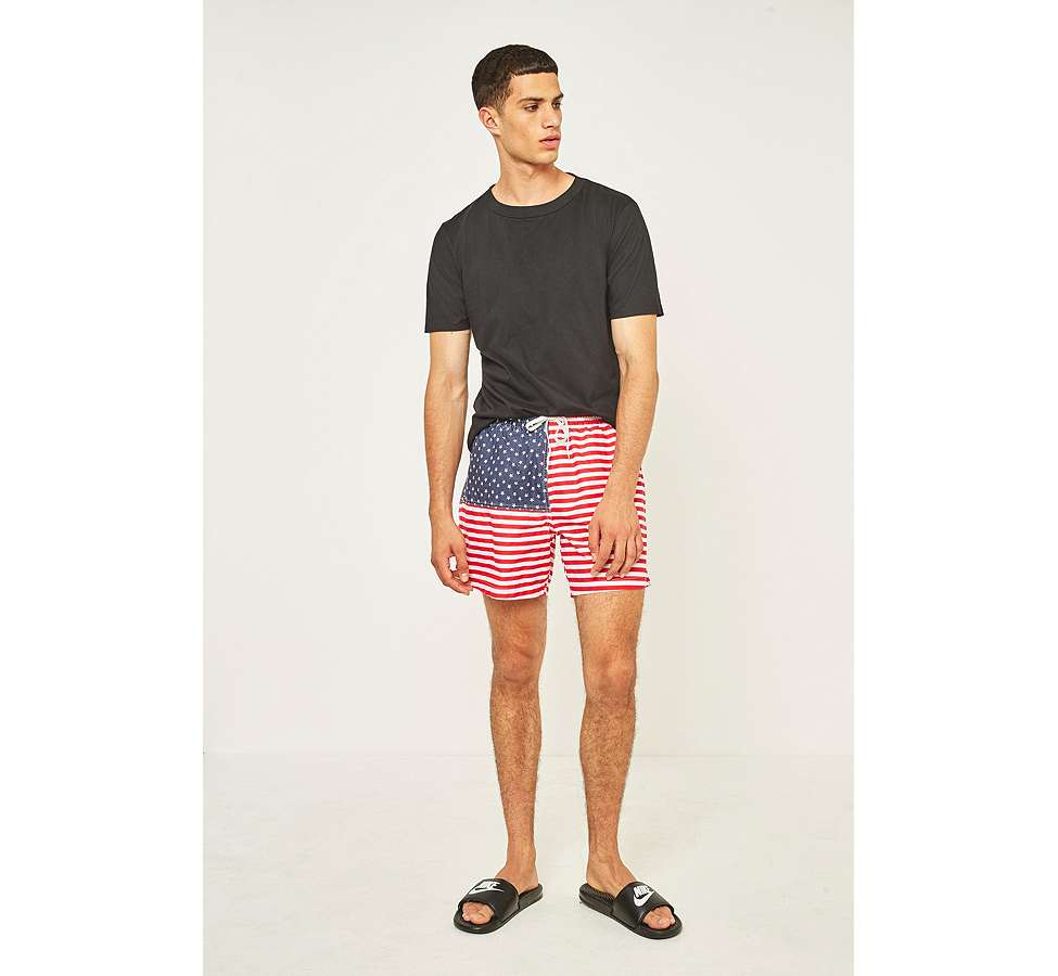 Slide View: 5: Urban Renewal - Short de bain Chubbies à motif drapeau américain