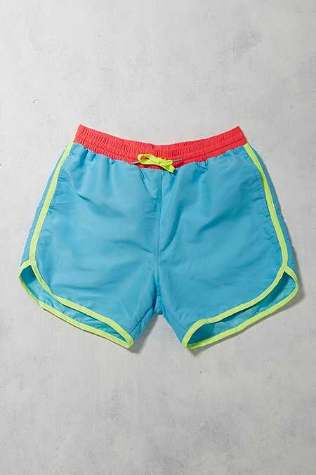 Urban Renewal Vintage Surplus - Short de bain Chubbies turquoise fluo
