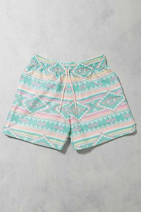 Urban Renewal Vintage Surplus - Short de bain Chubbies motif géométrique