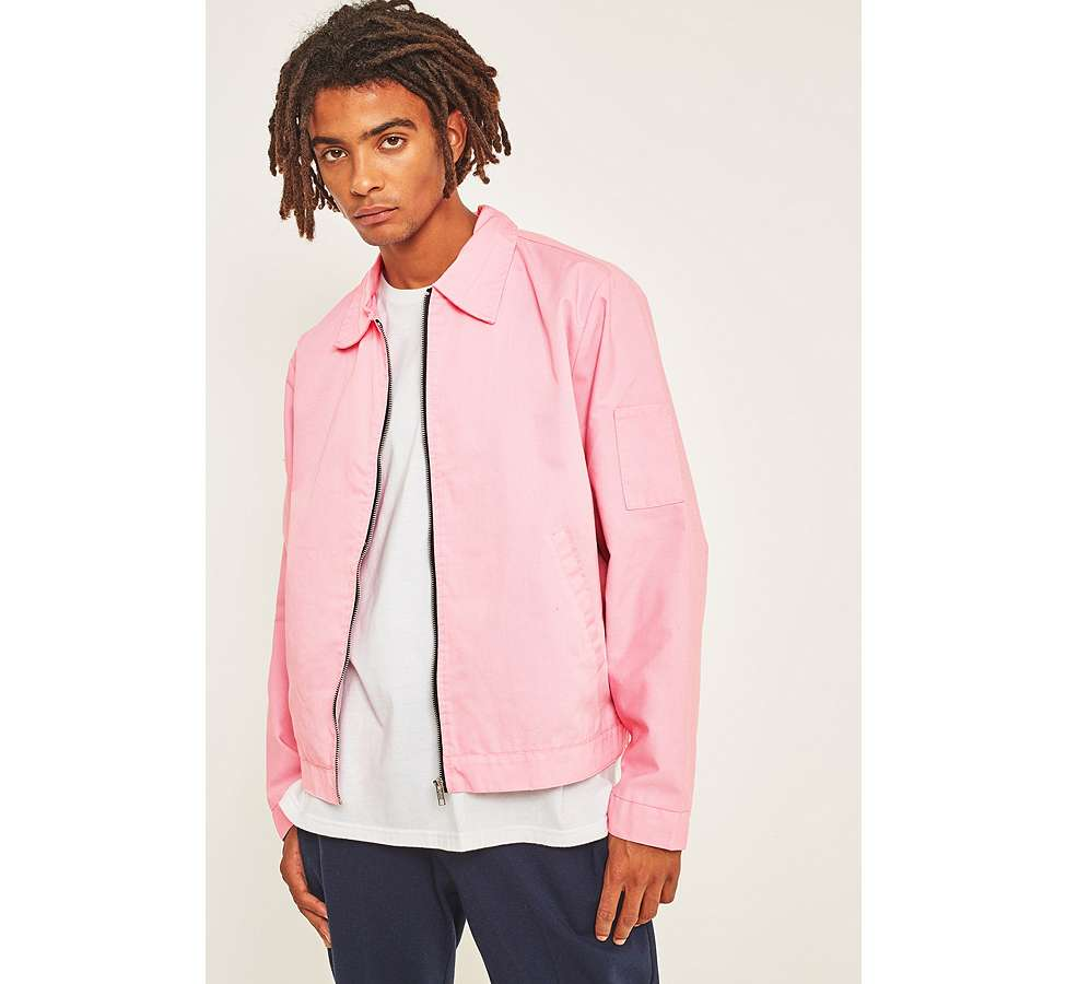 Slide View: 1: Urban Renewal Surplus Pink Worker Jacket