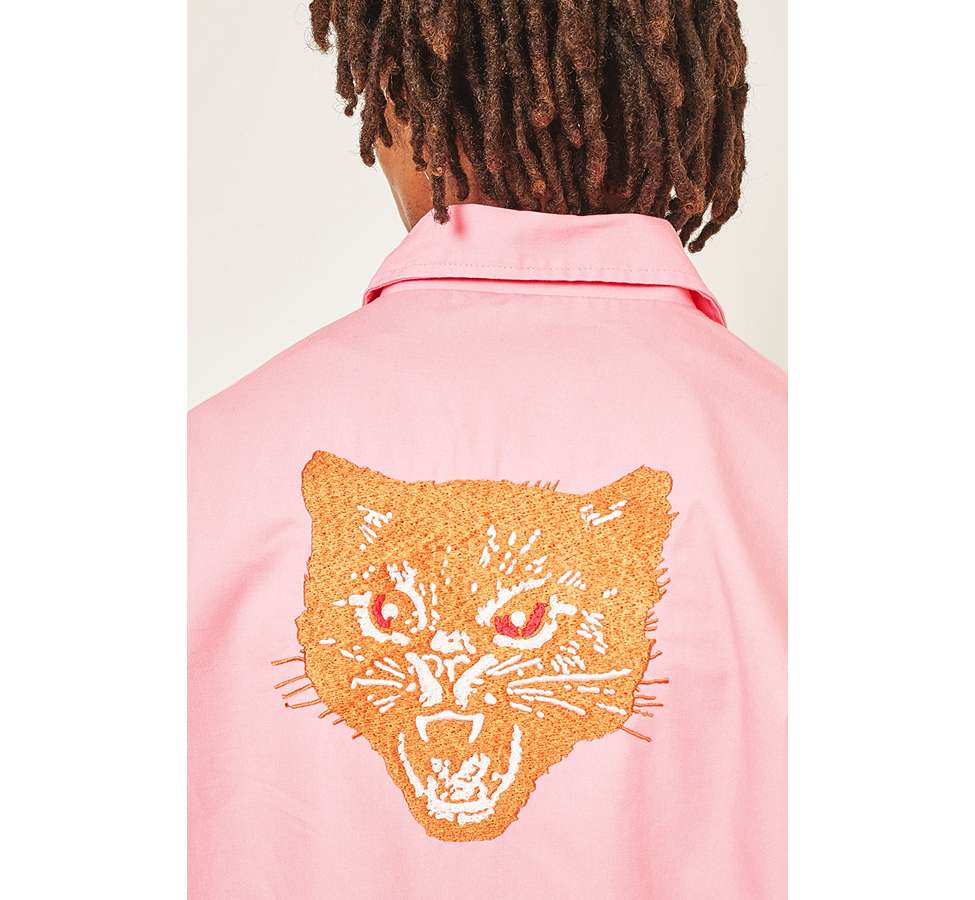 Slide View: 3: Urban Renewal Surplus Pink Worker Jacket