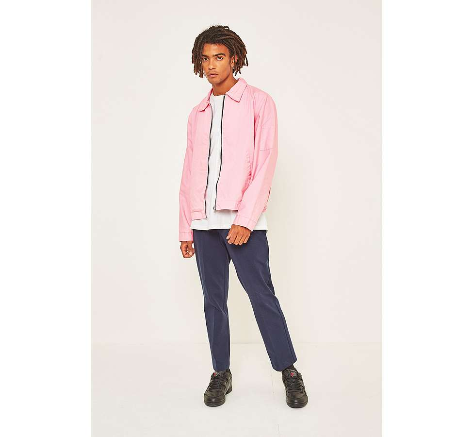 Slide View: 4: Urban Renewal Surplus Pink Worker Jacket