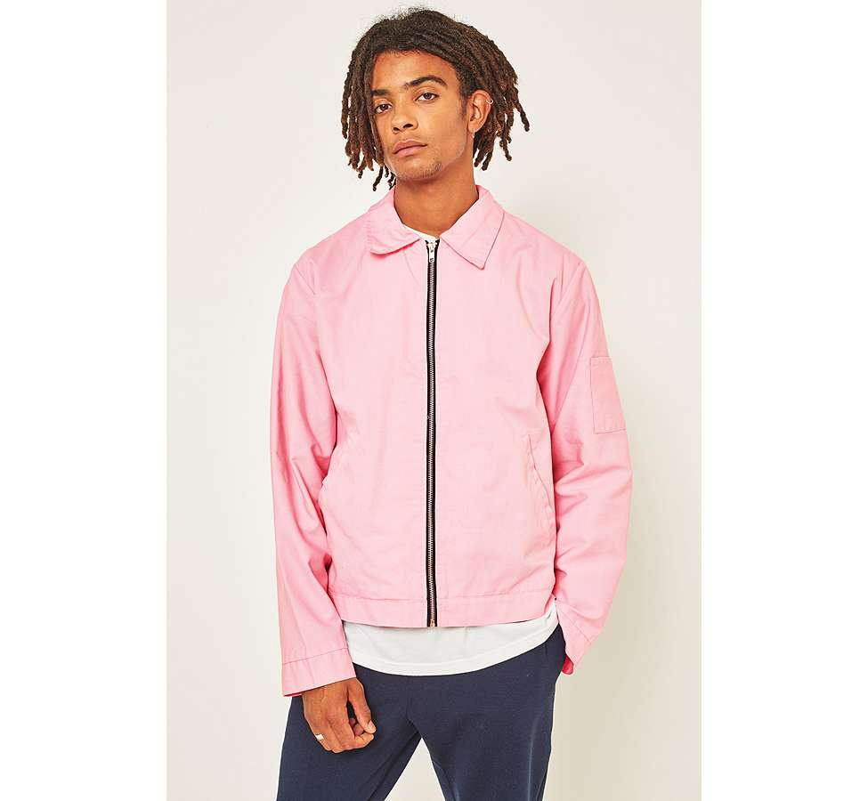 Slide View: 5: Urban Renewal Surplus Pink Worker Jacket