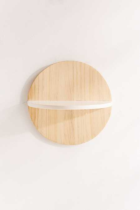 Calista Circle Wooden Shelf