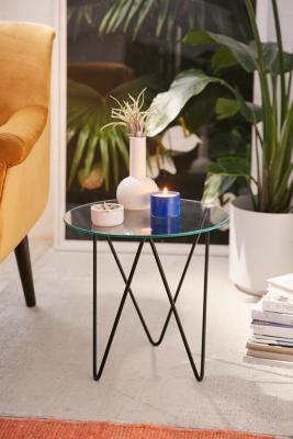 Image of Anderson Glass Side Table, Black