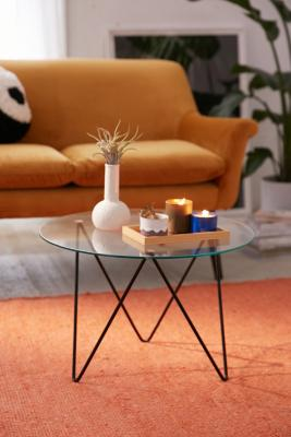 Image of Anderson Glass Coffee Table, Black