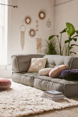 Reema Grey Floor Cushion Urban Outfitters Uk