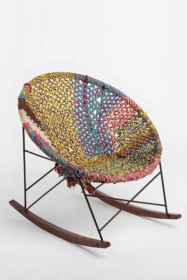 Hand Woven Rocker Chair Urban Outfitters Uk