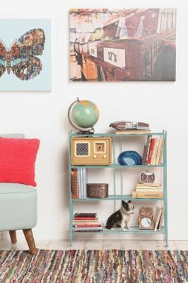 Turquoise Brimfield Bookcase