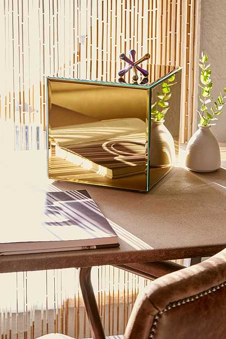 Gold Mirrored Cube
