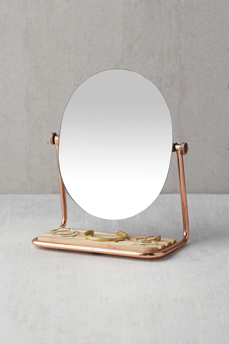 Slide View: 1: Elizabeth Tabletop Storage Mirror