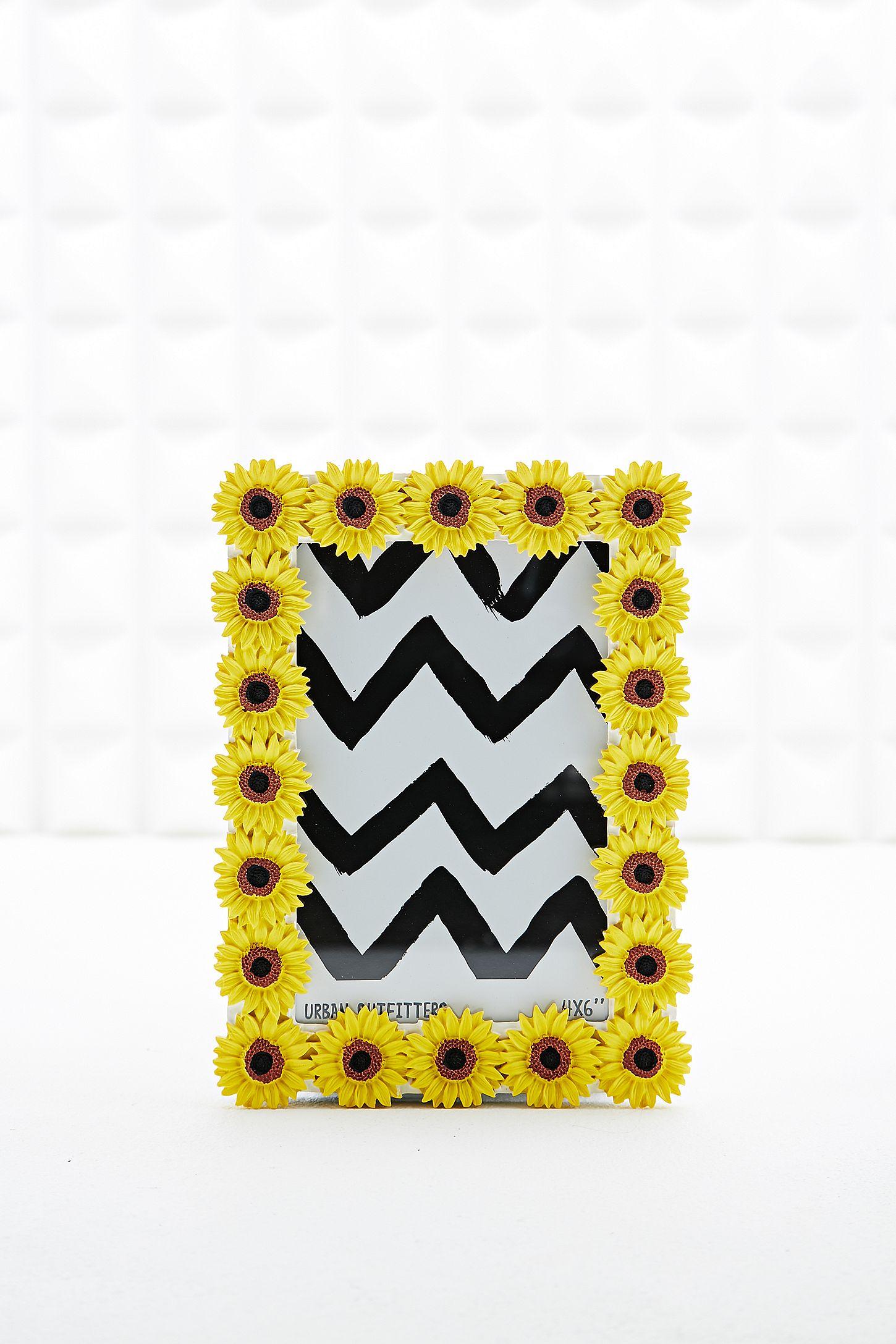 Bilderrahmen mit Sonnenblumen, 4 x 6 | Urban Outfitters