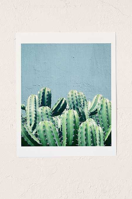 83 Oranges Cactus and Teal Wall Art Print