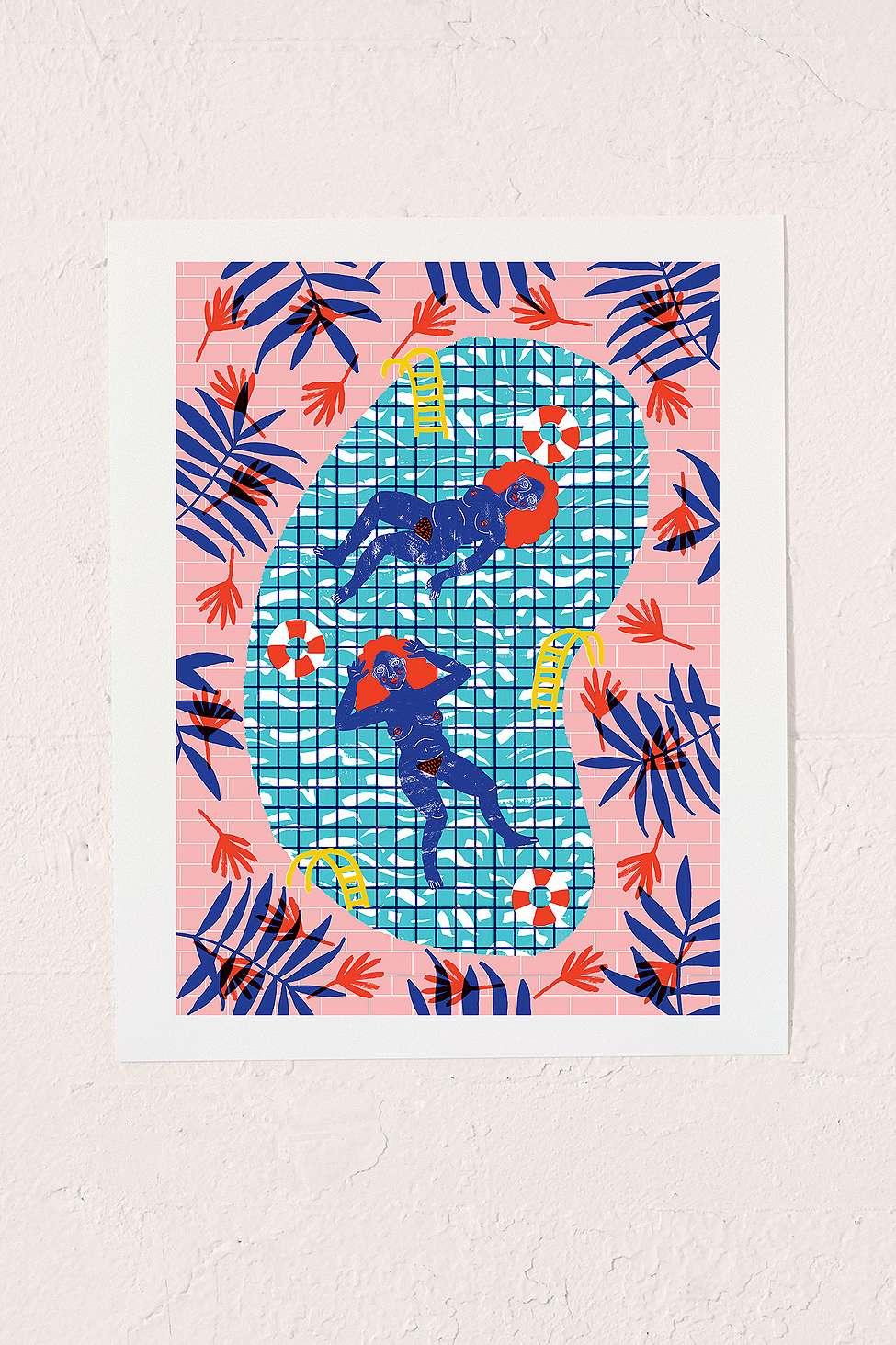 Urban Outfitters Wall Art camilla perkins paradise wall art print | urban outfitters