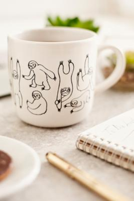 Sloth Print 15 Oz. Graphic Mug by Urban Outfitters