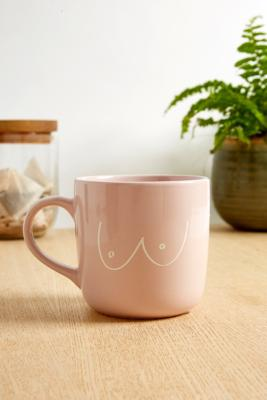 Boob Print Mug by Urban Outfitters