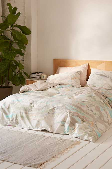 mixed marble duvet set