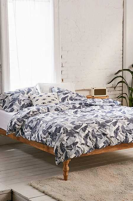 hills palm print duvet cover set