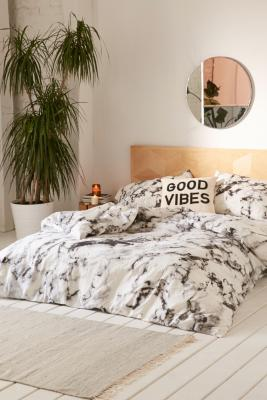 Marble Print Duvet Set Urban Outfitters Uk