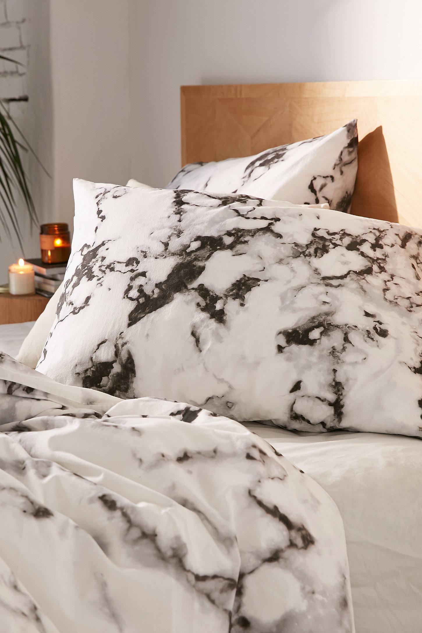 marble print duvet set  urban outfitters - slide view  marble print duvet set