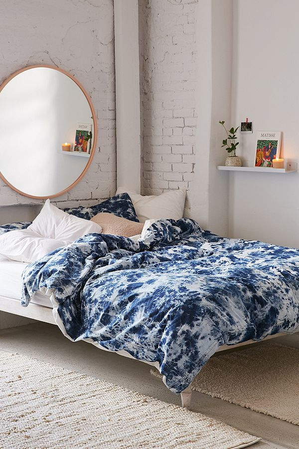 Slide View 1 Premium Denim Tie Dye Duvet Cover