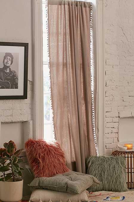 Palma Fringe Window Curtain Panel
