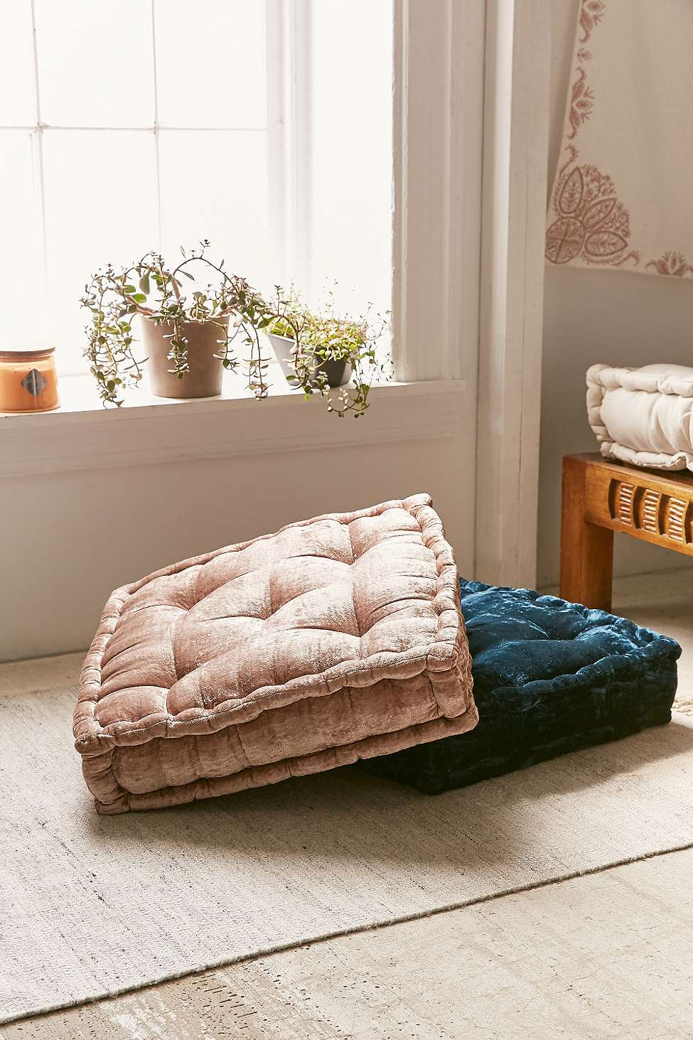 Image result for ruthie velvet floor cushion urban