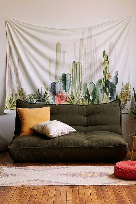 Cactus Print Landscape Tapestry