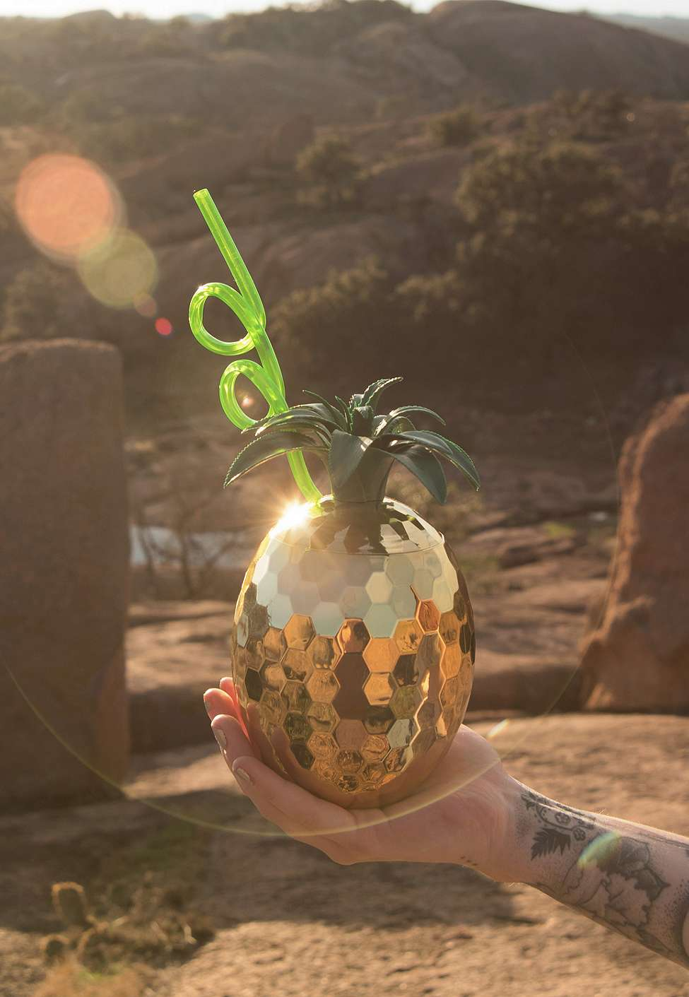 Slide View: 1: Disco Pineapple Sipper Cup