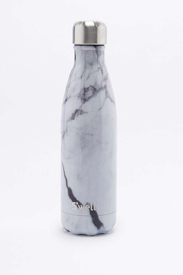 Slide View: 1: S'Well 17-Oz White Marble Water Bottle