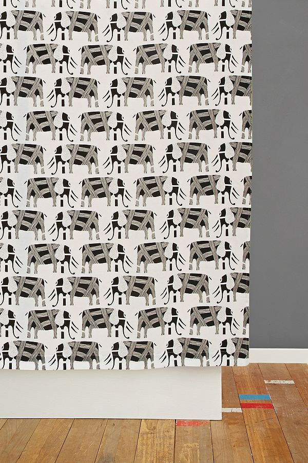 Your Urban Outfitters Gallery Marching Elephants Shower Curtain
