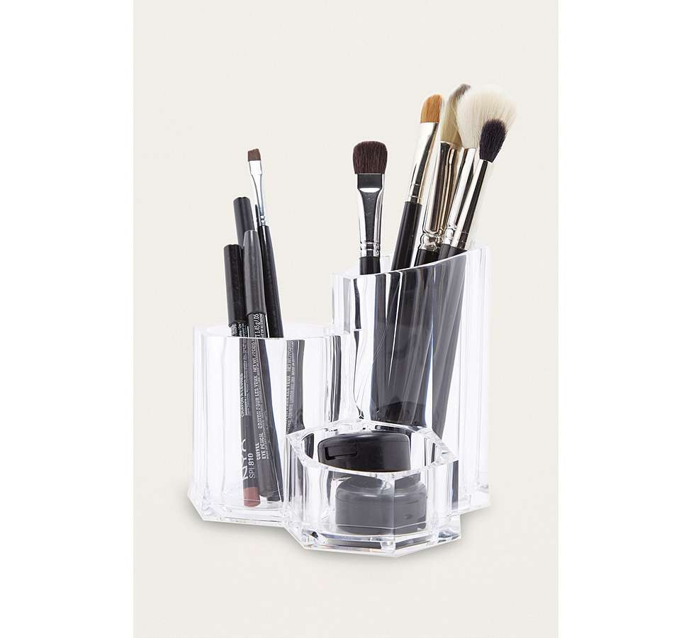 Slide View: 1: Three Compartment Make-Up Organiser