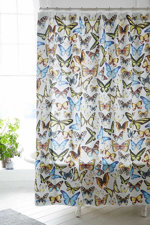 Slide View 1 Entomology Butterfly Shower Curtain