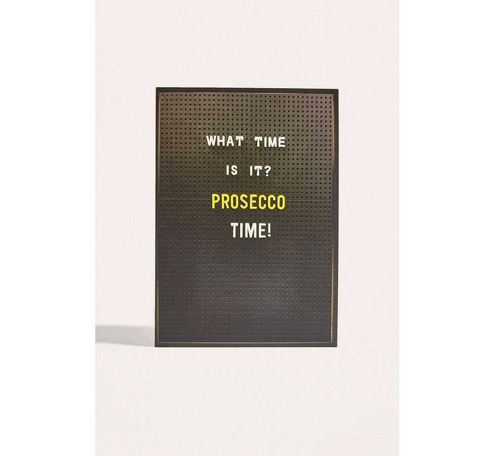 Slide View: 1: What Time Is It? Prosecco Time! Card