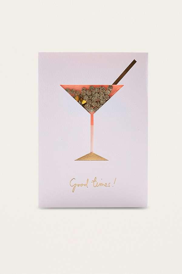 Cocktail Confetti Shaker Birthday Card – Urban Birthday Cards