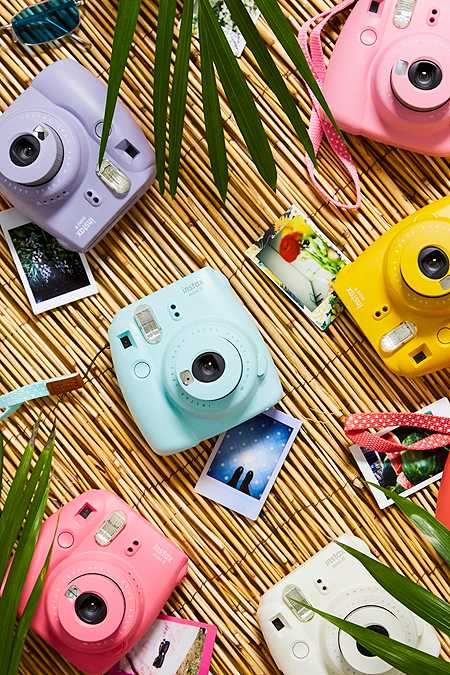 Slide View: 1: Fujifilm Instax Mini 9 Ice Blue Instant Camera