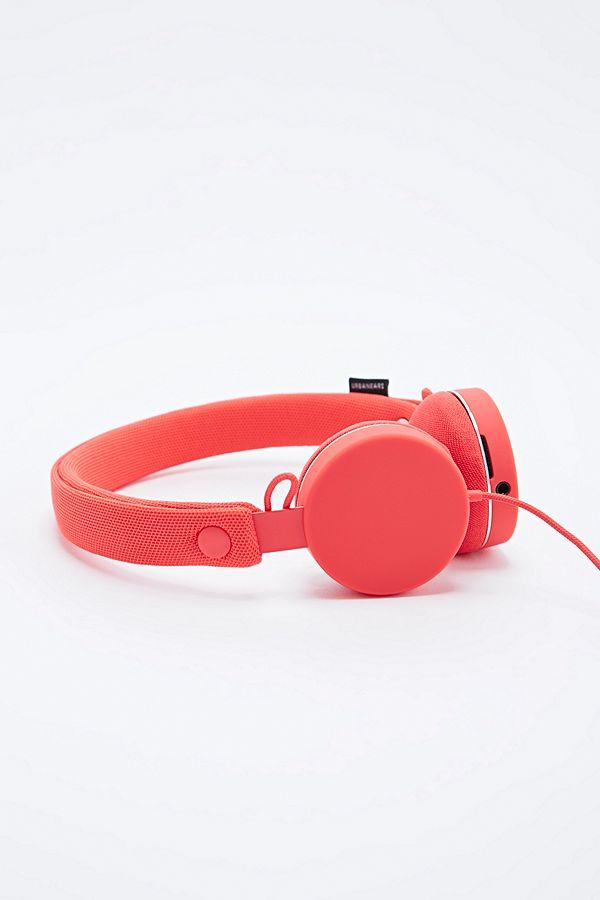 Urbanears Humlan Headphones in Tomato Red