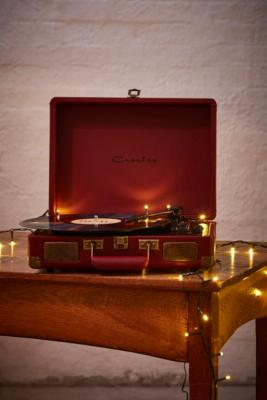 Crosley Cruiser Oxblood Vinyl Record Player Assorted