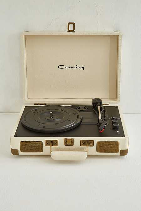 Crosley Cruiser Pebbled Cream Vinyl Record Player