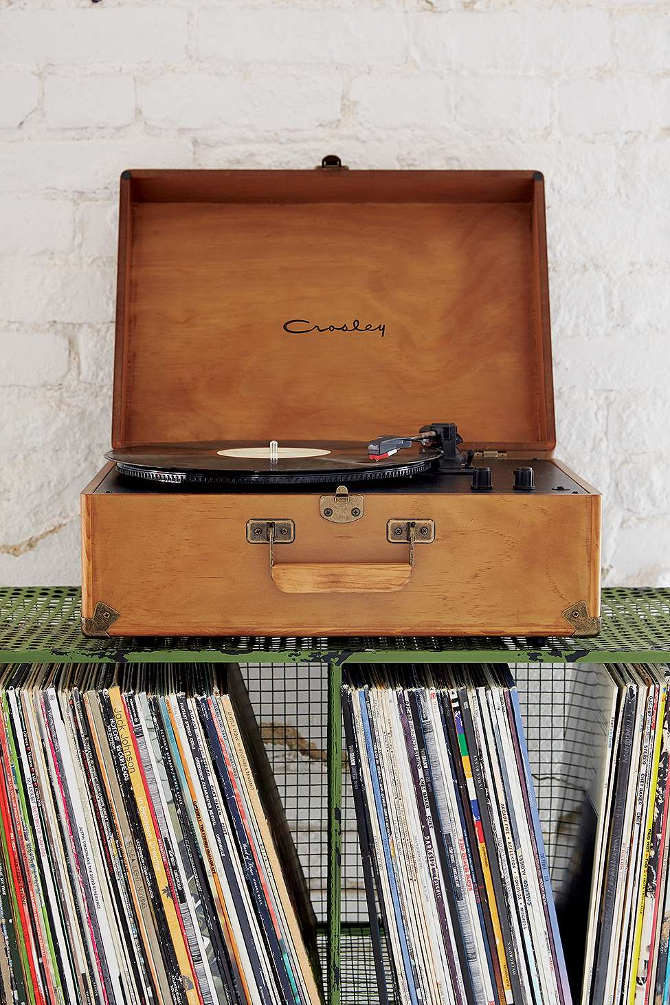 Slide View: 1: Crosley Keepsake Wood Vinyl Record Player