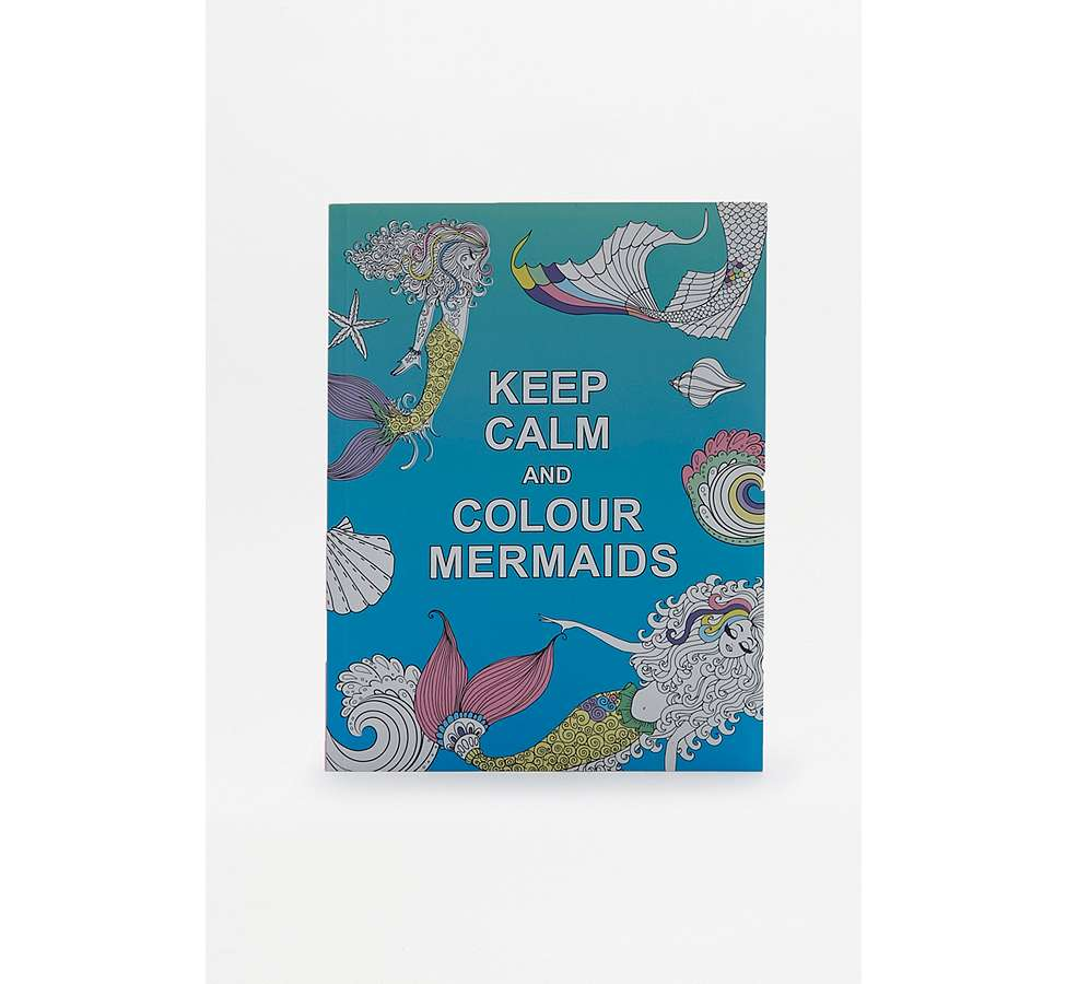 Slide View: 1: Livre Keep Calm and Colour Mermaids
