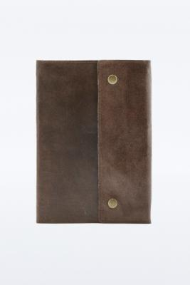 Oh Snap Brown Leather Notebook BROWN
