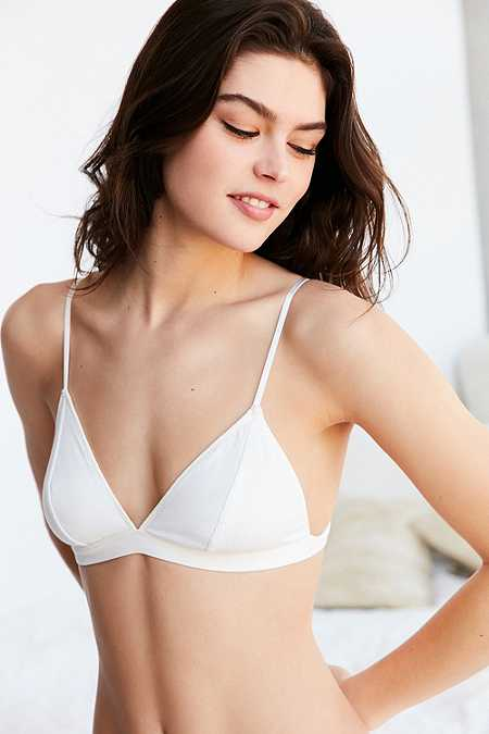 Basic Ribbed Knit Triangle Bra