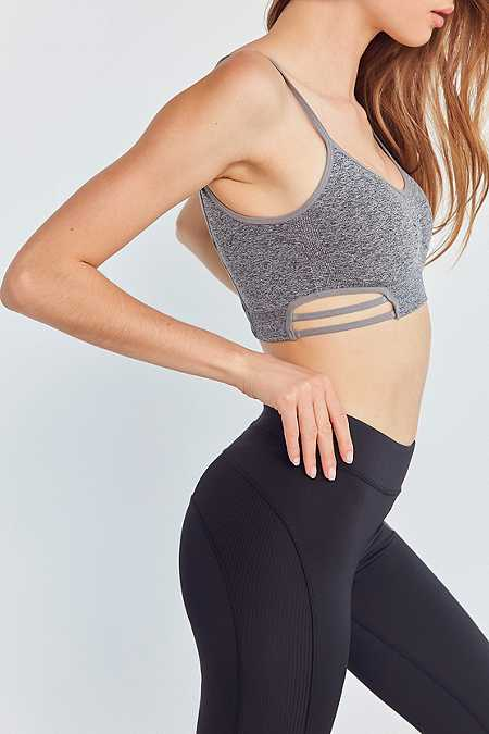 Out From Under Clara Cut Out Seamless Grey Bra